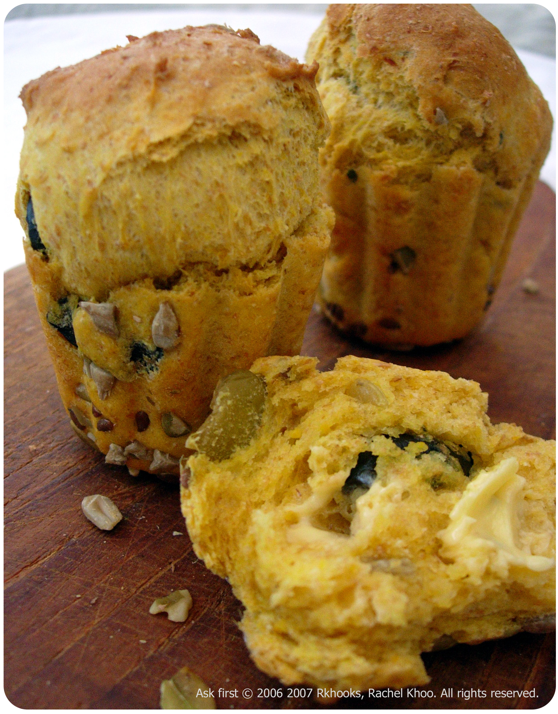 Pumpkin & Olive bread